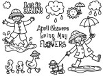 April Showers Stamp set  Created for Storage Units Ink copyright 2009