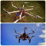 CVP's newest piece of equipment, a hexacopter, which is great for shooting wide aerial shots and capturing wide areas.