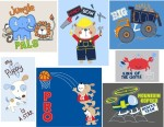 Childrenswear Art/Design for Young Boys  Appliques and screenprint graphic design for Boys Infant and Toddler apparel