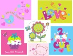 Childrenswear Art/Design for Young Girls  Appliques and screenprint graphic design for Girls Infant and Toddler apparel